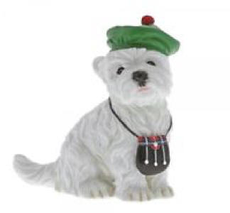 Border Fine Arts Cameron  A28997 Westie Dog Countryside Coutre Figurine