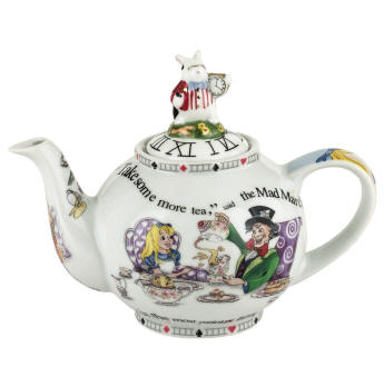 Alice in Wonderland Teapot 2 cup, 18oz
